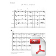 Svendsen: 2 Icelandic Melodies, Op. 30 for String Orchestra (Full Score) [PDF] Preview PDF (Free download)