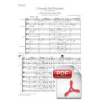 Svendsen: 2 Swedish Folk Melodies for String Orchestra (Full Score)