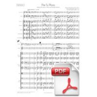 Ventura: Per Tu Ploro, Sardana for Voice or Tenora and String Orchestra (Full Score)
